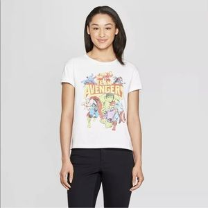 Marvel Team Avengers White T-Shirt Small
